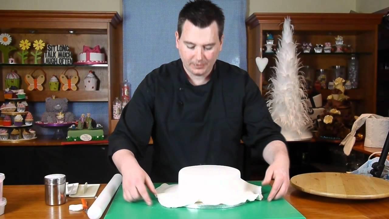 Sugar Paste Cake Decorating Round Bow Cake Lesson 4 Sugar Paste Cake Decorating With Paul