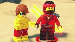 The LEGO Ninjago Movie Videogame - Ninjago City Beach 100% Guide (All Collectibles)