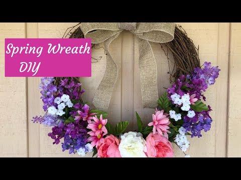Dollar Tree Spring Farmhouse Wreath DIY