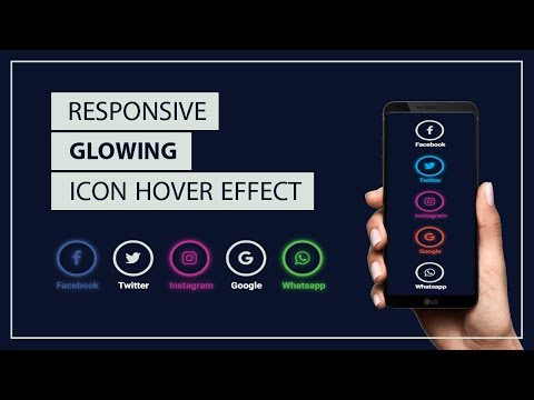 Glowing Social icons hover effect - Icon Hover Effects - CSS Icon hover effect - font awesome icons