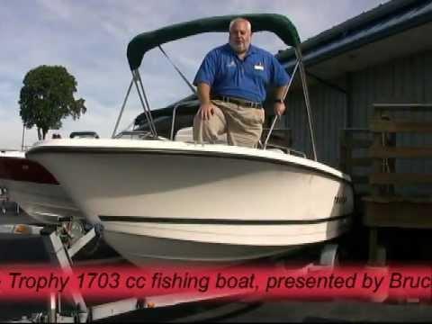 2001 us marine trophy 1703 cc fishing boat youtube for Boat fishing near me