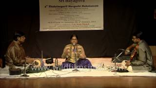 Carnatic vocal accompanied by the violin and tabla