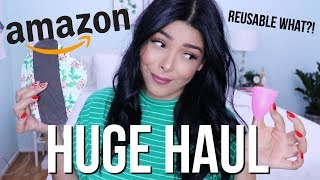 HUGE AMAZON HAUL | AFFORDABLE REUSABLE ECO FRIENDLY NEW PRODUCTS FALL 2018 | SCCASTANEDA Video