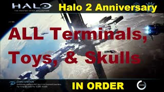 Halo 2 Anniversary - ALL Skulls, Terminals, & Toys in Order
