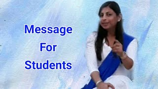 MESSAGE FOR STUDENTS | LEARNING | ENGLISH | GRAMMAR
