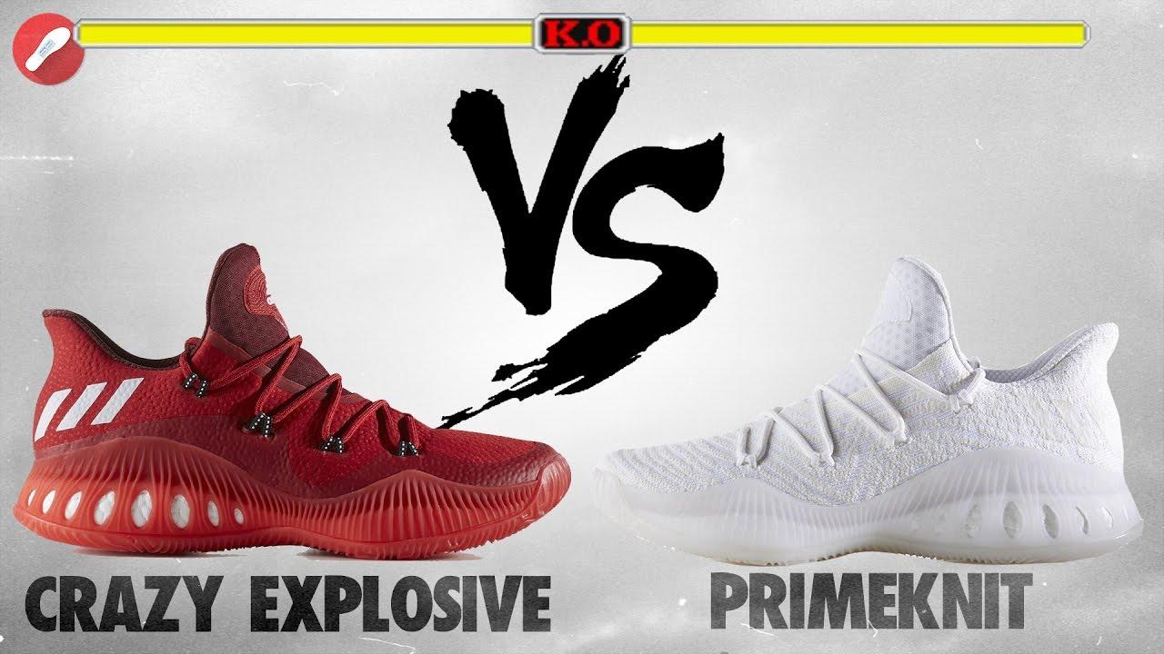 wholesale dealer e1ecc bd701 Adidas Crazy Explosive Low vs Crazy Explosive Low PRIMEKNIT!