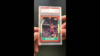 1986 Fleer Basketball Michael Jordan ROOKIE, PSA/DNA AUTO #57 PSA 9 MT (PWCC) - Ends April 7th, 2019