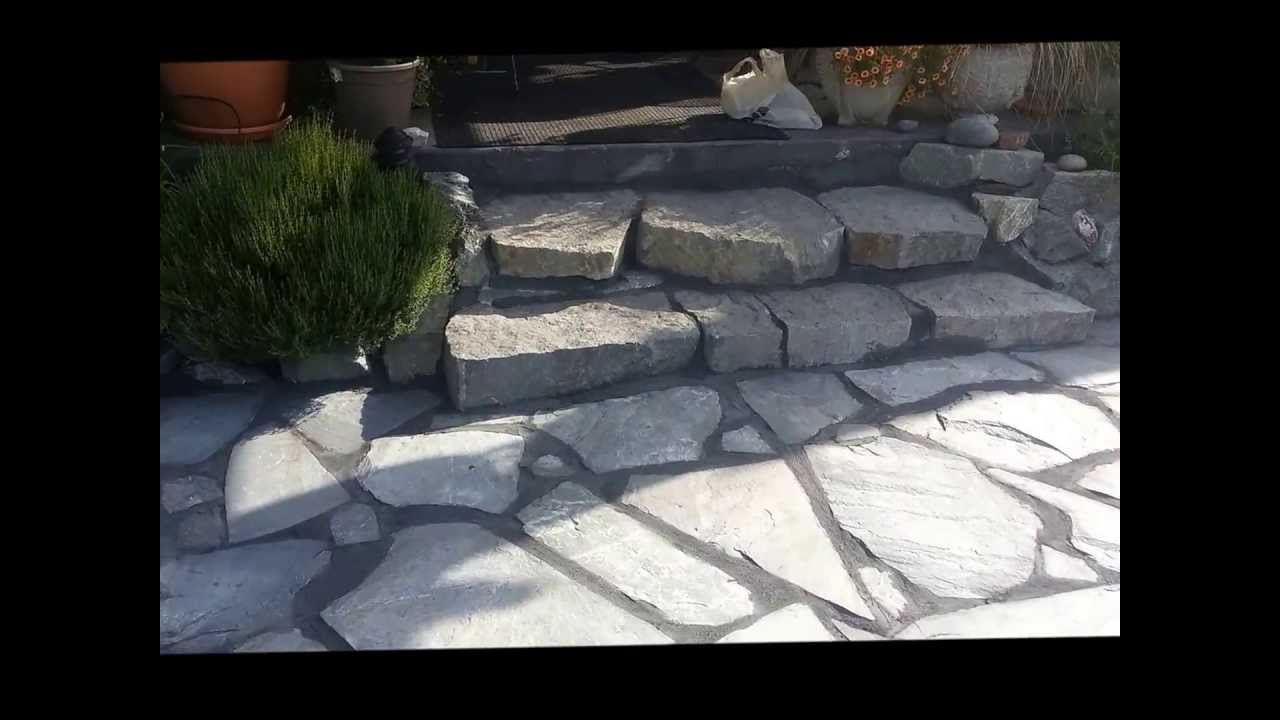 How to Install Flagstone Patio  YouTube