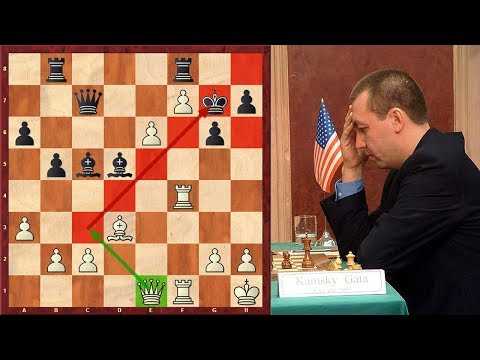 Just Insane! Gata Kamsky's Last 17 Moves Were All Threats!