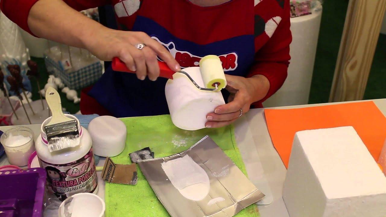 Excepcional Aprenda a fazer um bolo falso imitando Pasta Americana. Só Isopor  MG33