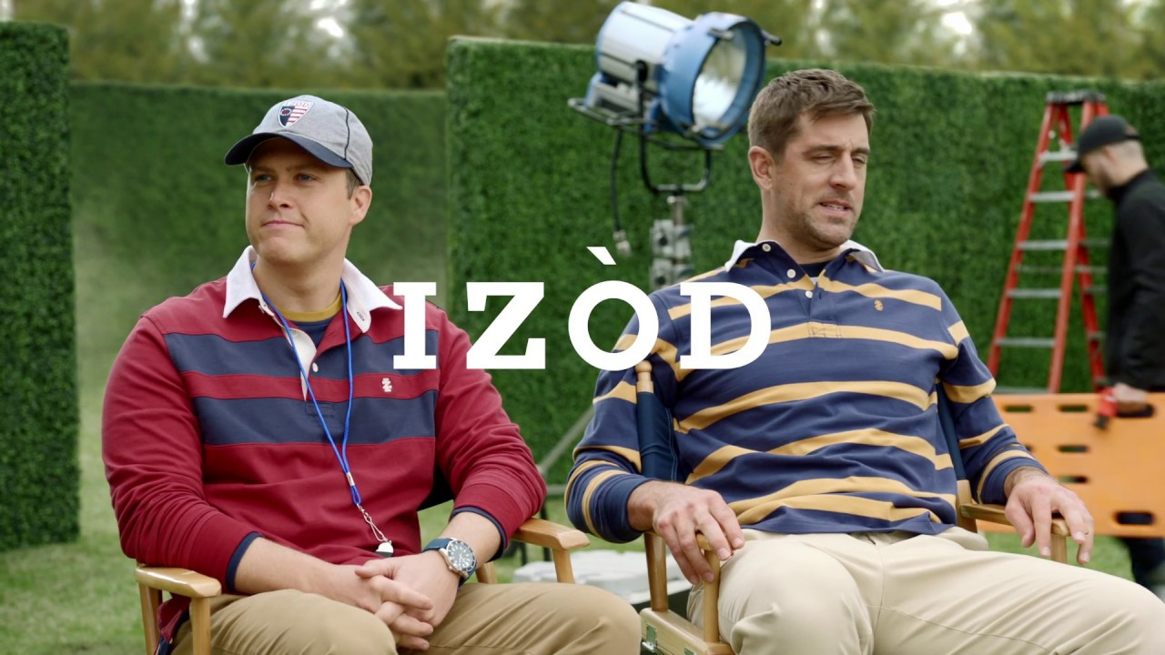 Izod Fall 2019 Bts With Aaron Rodgers And Colin Jost 30 Youtube