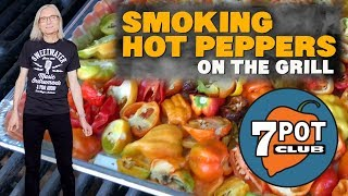 Smoking Hot Peppers on the Grill (And a Funky Song)