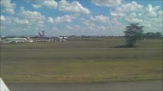 kenya Takeoff ケニヤ ナイロビ空港 離陸
