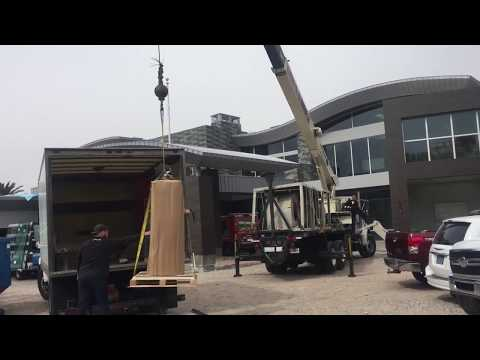 Installing Heavy Safe Using A Crane - The Safe Keeper