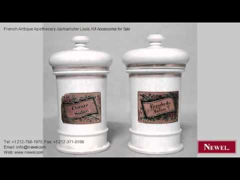 French Antique Apothecary Jar/canister Louis XVI Accessories
