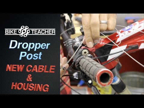 How to replace a dropper cable and housing, KS Dropper Seat Post, on a Giant Trance Bike. Part 1