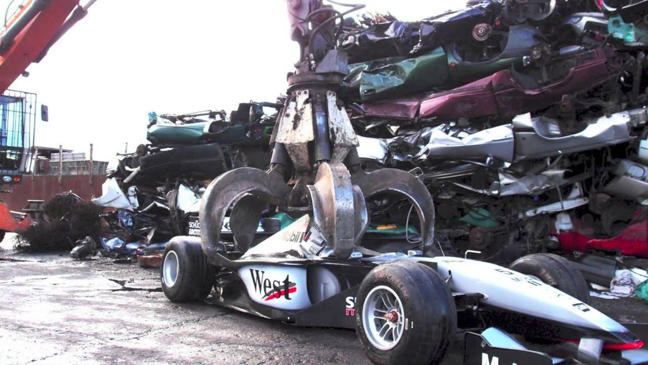 kiesow vs. formula 1 (f1) - car crashing - youtube