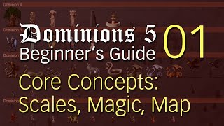 Dominions 5 Beginner's Guide 01 ~ Core Concepts: Scales, Magic, Map