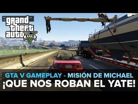 GTA 5: ¡QUE NOS ROBAN EL YATE! - Gameplay [Misión de Michael] Eurogamer