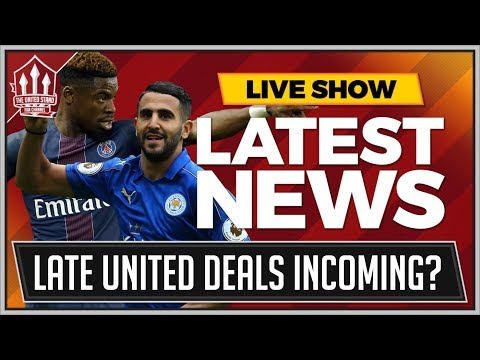 Riyad MAHREZ To MANCHESTER UNITED! Plus Serge AURIER Wants MANCHESTER UNITED Transfer over Spurs!