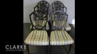 Shield Back Chairs | Prince Of Wales Chairs | Antique Furniture| Clarke Auction Gallery