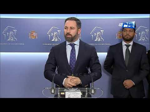 Abascal aborda en rueda de prensa en el Congreso el asalto kamikace a la frontera de Ceuta