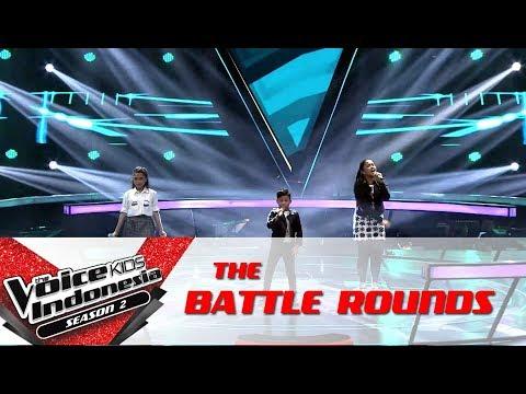 "Dita & Gilbert & Shakira ""Wrecking Ball""   Battle Rounds  The Voice Kids Indonesia S2 GTV 2017"