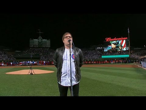 WS2016 Gm3: Patrick Stump sings anthem