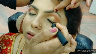beautiful nude party makeup look for beginners step by step easy & simple method/Pooja Chaudhary