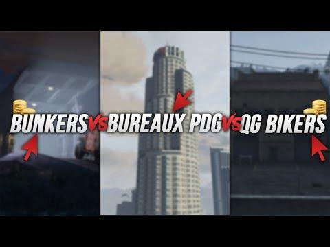 BUNKERS, BUREAUX DE PDG ou QG DE BIKERS ?! (Gta  Online)
