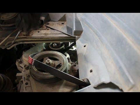 Замена приводного ремня на Nissan Qashqai 2,0 4WD Ниссан Кашкай 2008 года