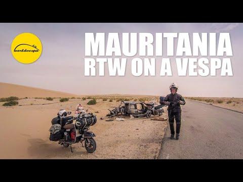 Vespa travel Mauritania