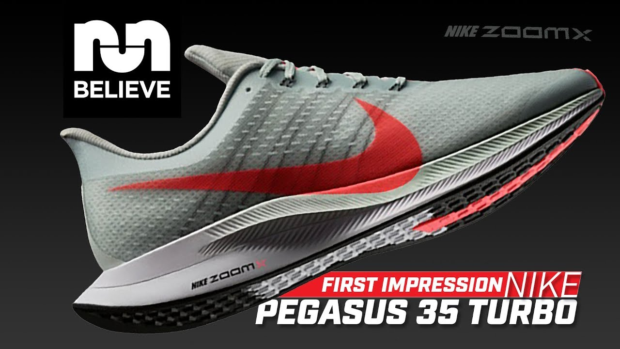 f87cbaec4d2e First Run in the Nike Pegasus 35 Turbo with Zoom X - YouTube