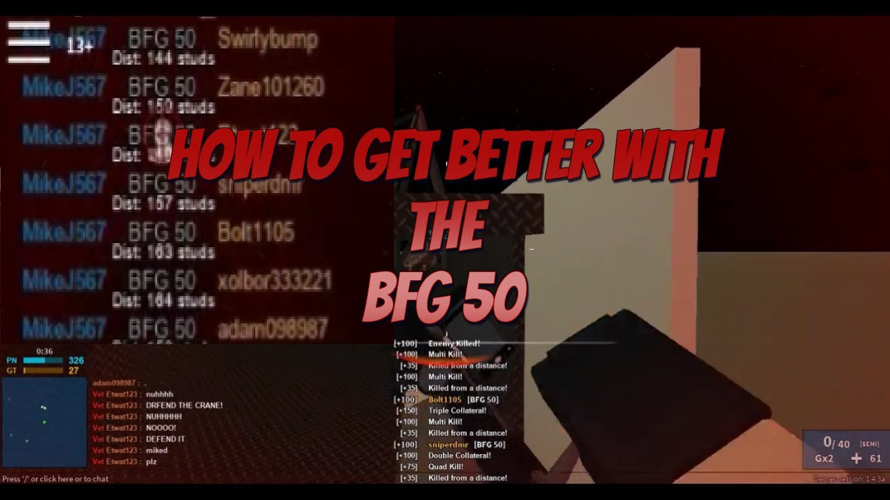 Roblox Phantom Forces Tips Tricks How To Get Better With The Bfg 50 - youtube videos roblox phantom forces