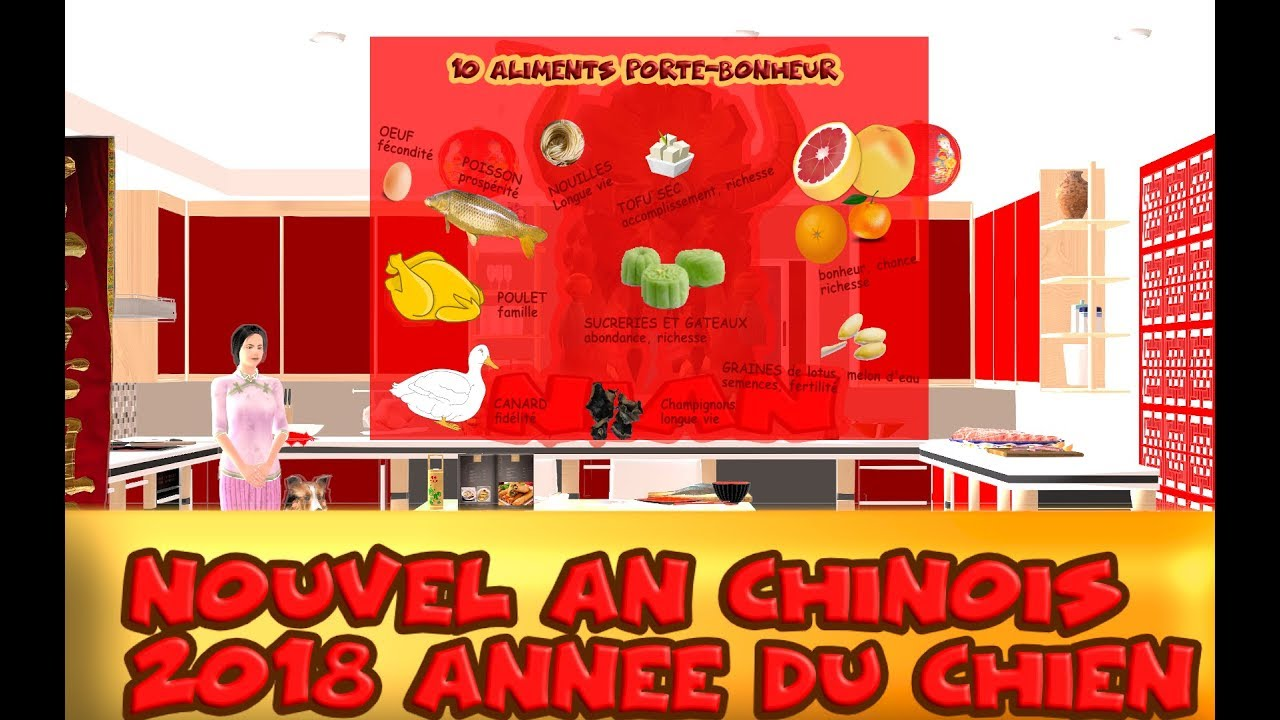 Nouvel An Chinois 2019 La Cuisine Chinoise Porte Bonheur Youtube