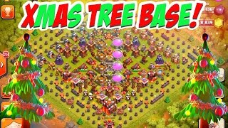 New X-mas Tree Base! Clash Of Clans Christmas Tree Spawner!