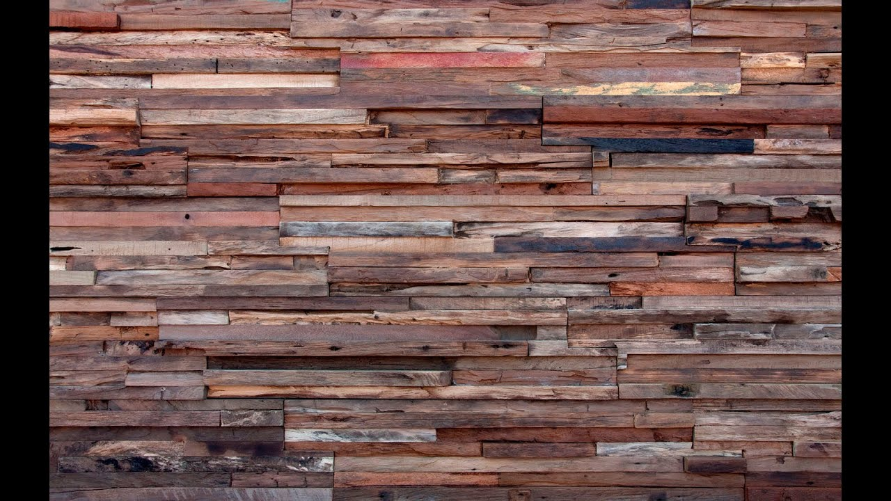 Wooden Wall Boards : Wood wall paneling panel art youtube