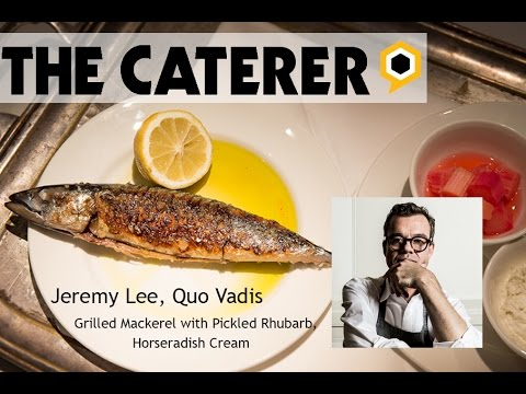 Jeremy Lee - grilled mackerel with pickled rhubarb