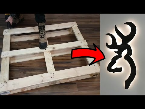 DIY Wall Art with wood Pallet / LED backlight