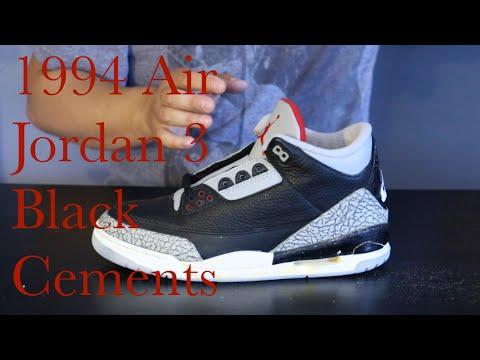 the best attitude 78473 2da62 1994 Air Jordan 3 Black Cement GRAIL SZN!