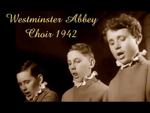 Movie: A fascinating  glimpse into the life of Westminster Abbey Choir, 1942