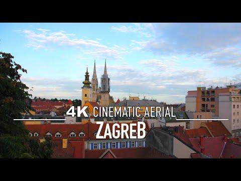 ZAGREB CROATIA Drone 4K || Hrvatska