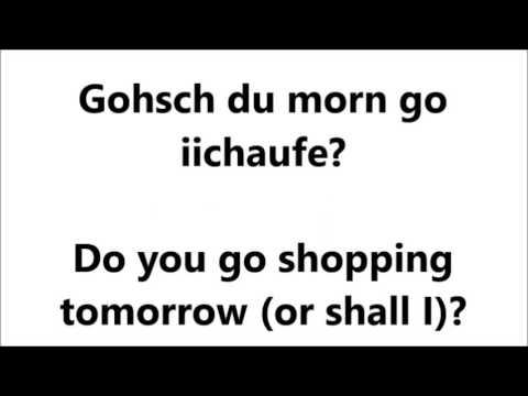 Schweizerdeutsch Verstehen