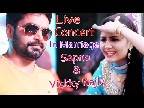 Live Concert In Marriage | Vickky Kajla With Sapna Chaudhary | Sonotek Haryanvi | English Medium