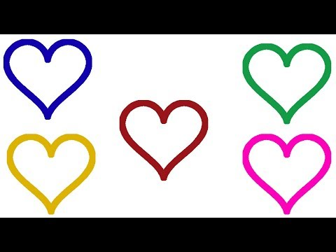 How to Draw Hearts Learn Colors For Kids |Drawing and Coloring For Children thumbnail