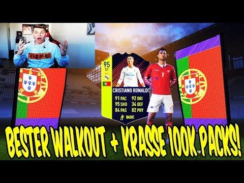 OMG! Wir ziehen den BESTEN PTG WALKOUT!! + Kranke 100K PACKS! 🤑🔥 Fifa 18 Pack Opening Ultimate Team