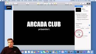 OSX: Kinovorspann mit Keynote erstellen