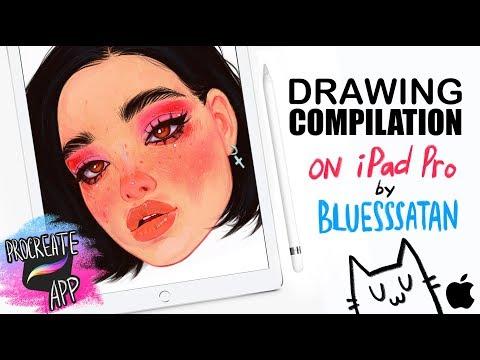 September Drawing COMPILATION. Bluesssatan. IPAD PRO+Procreate. Apple