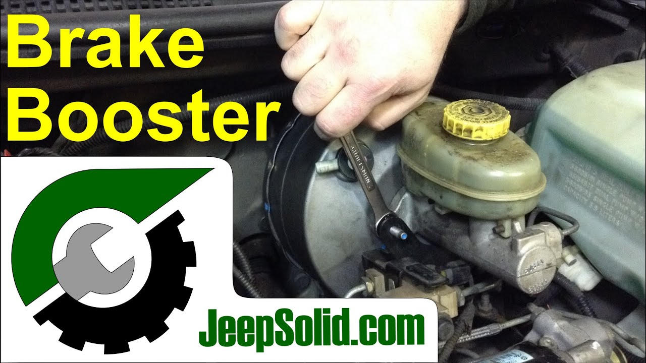 how to replace brake booster  jeep brake booster