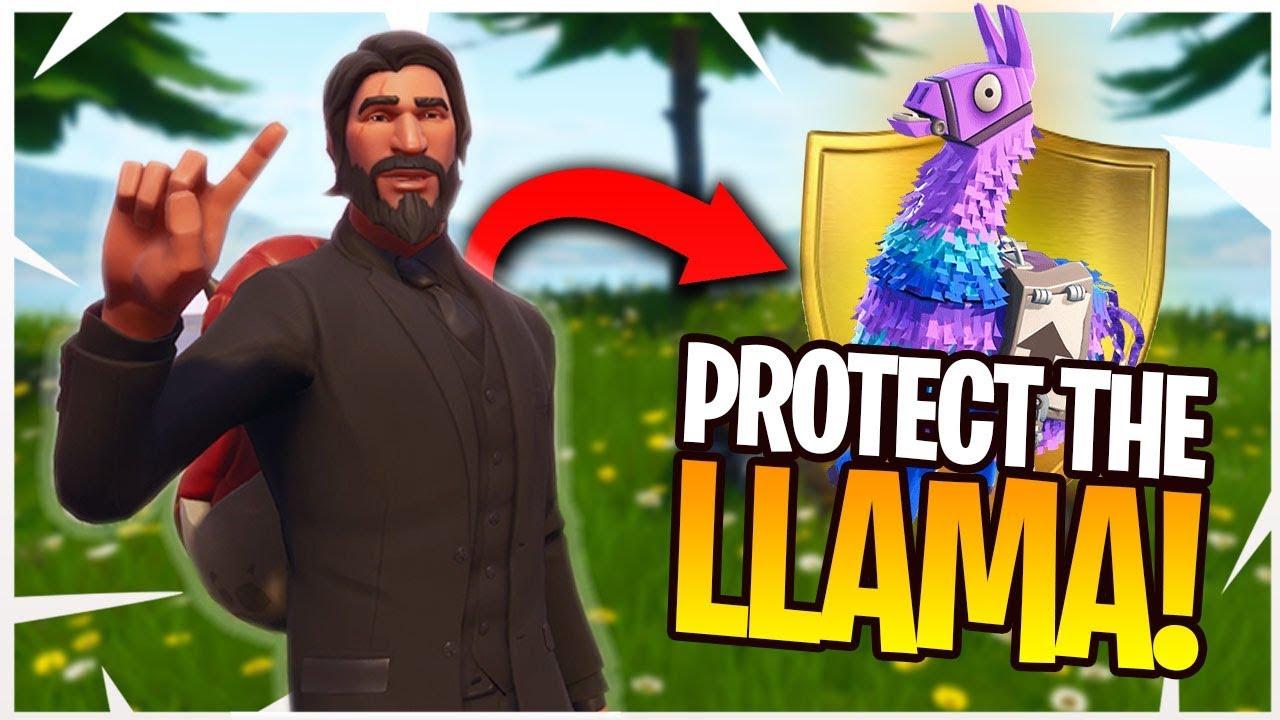 Protect The Llama Fortnite Custom Game Mode 2V2 Playgrounds Mode